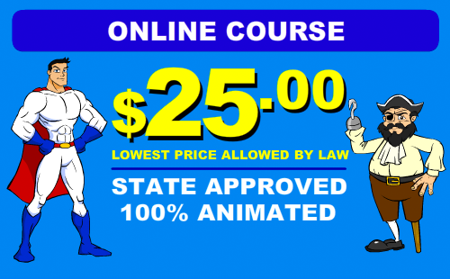 Online Defensive Driving Cost