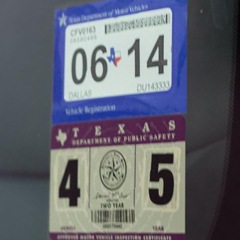 Texas DMV Adopts Single Sticker System