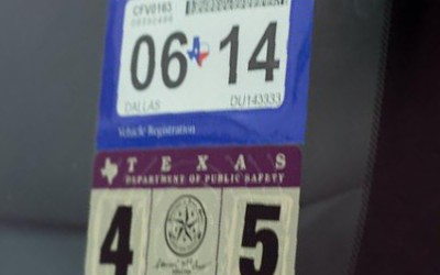 Texas State Inspection Sticker 2014