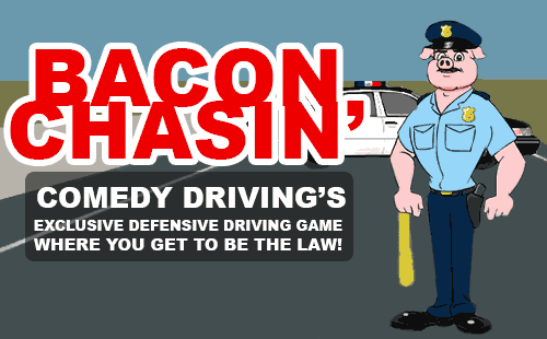 Comedy Driving is the first Defensive Driving School in Texas to develop its own driving game, which is available exclusively within our online course! Our game allows you to finally reverse the roles; participating as a police officer and attempting to catch a speeder!