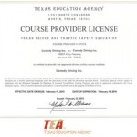 photograph relating to Defensive Driving Course Online Texas Printable Certificate referred to as TEA Authorised Defensive Guiding