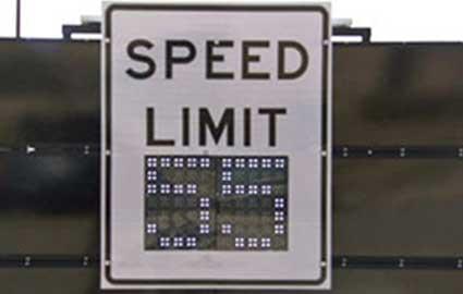 Digital Speed Limit Signs