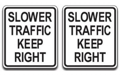 Why Slower Vehicles Should Stay on the Right
