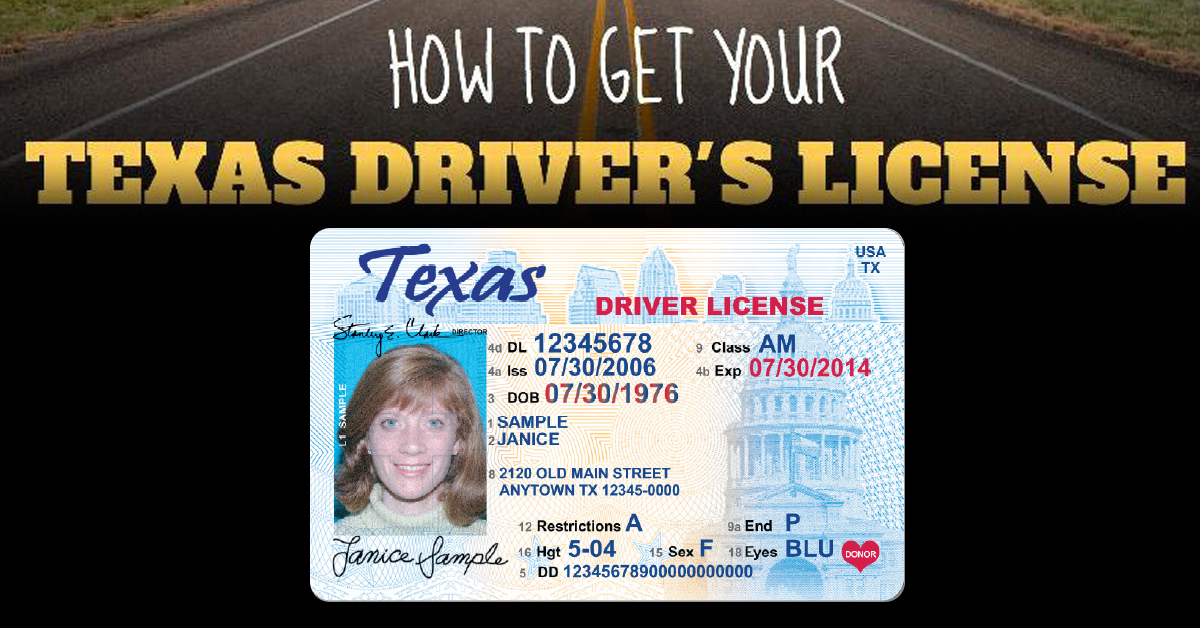 how to get a texas drivers license at 18