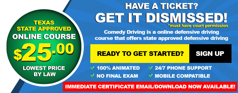 Comedy Driving 25 Texas Defensive Driving Online Course